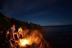 Warm Fire at Midnight Meat Cove Campground