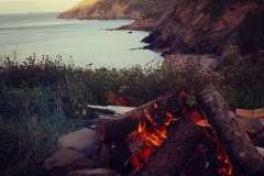 Evening Campfire Meat Cove Campground