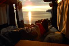 Tent View of Amazing Sunset Meat Cove Campground